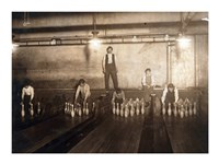 Subway Bowling Alley, 65 South St., Brooklyn, N.Y. Fine Art Print