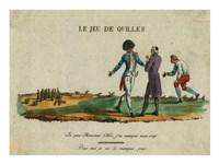 Bowling Le Jeu de Quilles Fine Art Print