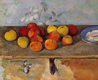 Still life of apples and Biscuits Fine Art Print