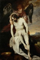 The Dead Christ Supported by an Angel Fine Art Print