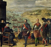 The Defense of Cadiz Against the English (1625) Fine Art Print