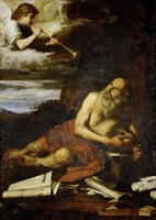 Saint Jerome with the Angel of the Last Judgement Fine Art Print