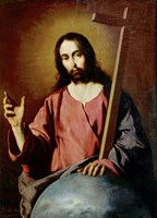The Savior Blessing. 1638 Fine Art Print