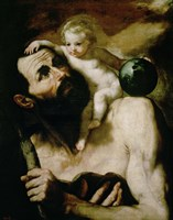 Saint Christopher,1637 Fine Art Print