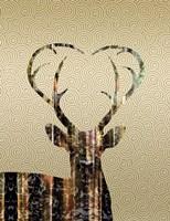 Deer Gold Fine Art Print
