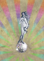 Disco Venus Framed Print