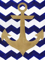 Chevron Anchor Fine Art Print