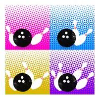 Bowling Pop Fine Art Print