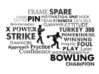 Bowling Text Fine Art Print
