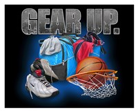 Gear Up Basketball Framed Print