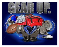 Gear Up Football Framed Print