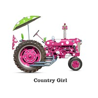 Country Girls Tractor Framed Print