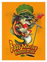 Bass Marley Framed Print