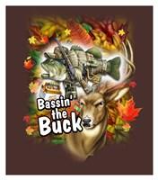 Bassin'  the Buck Framed Print