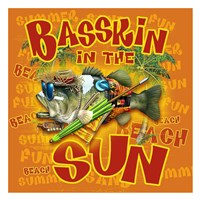 Bassin'  in the Sun Framed Print