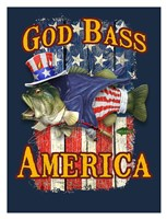 God Bass America Framed Print