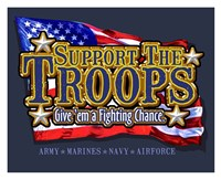 Support the Troops Fighting Chance Fine Art Print