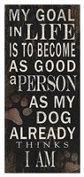 My Goal - Dog Framed Print