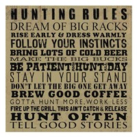 Hunting Rules Framed Print