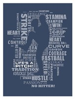 Baseball Words Fine Art Print