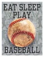 Eat Sleep Play Baseball Framed Print