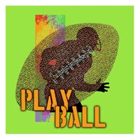 Play Ball Football Framed Print
