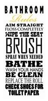 Bathroom Rules Framed Print