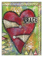 Grace Heart Framed Print