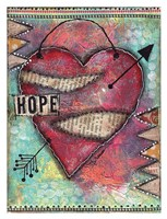 Hope Heart Framed Print