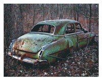 Old Car in the Woods Fine Art Print