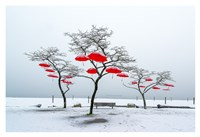 Red Umbrellas Fine Art Print