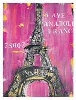 Pink Eiffel Fine Art Print