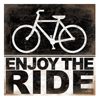 Enjoy the Ride - Bicycle Framed Print