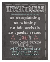 Kitchen Rules Fine Art Print