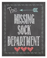 Missing Sock Dept. Framed Print