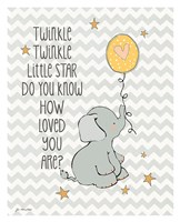 Twinkle Love Framed Print