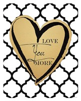 Faux Gold Love You More Framed Print