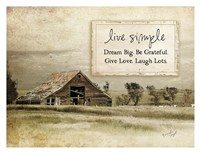 Live Simple Framed Print