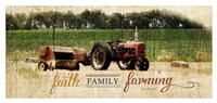 Faith Family Farming Framed Print