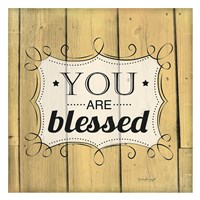 You Are Blessed Framed Print
