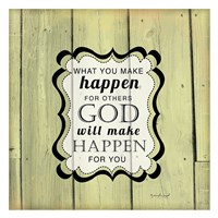 God Will Make Happen Framed Print