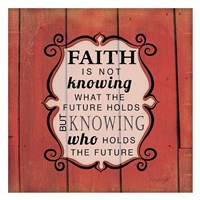 Knowing Who Holds the Future Framed Print