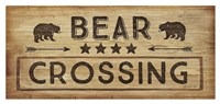 Bear Crossing Framed Print