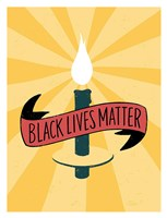 Black Lives Matter - Candle Fine Art Print