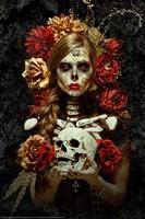 Flores de la Muerte Framed Print