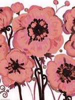 Hot Pink Blooms Framed Print