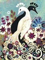 Swirling Peacocks Fine Art Print