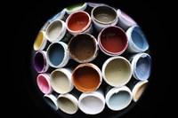 Color Cups & Tape 5 Framed Print