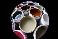 Color Cups & Tape 10 Framed Print