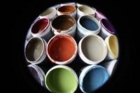 Color Cups & Tape 16 Framed Print